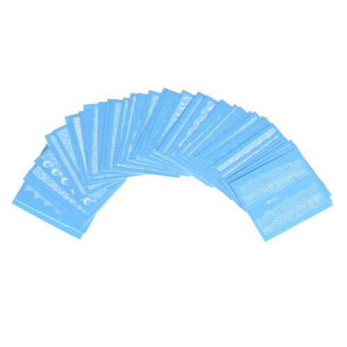 48シートネイルステッカーセット混合パターンネイルペーパーチップネイルアートスタイリングセットDIYウォーターマークマニキュアタトゥー