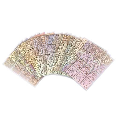 24 teile / satz Nagel Maniküre Aufkleber Mischmuster Französisch Nagel Hohl Grid Schablone Stamping Schablone Nail art werkzeuge