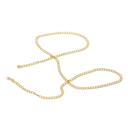 1 teil / paket Gold Schwarz 3D Ketten Punk Snake Knochen Design Nagel Nieten Metall Nail art DIY Dekorationen Charme Maniküre Zubehör