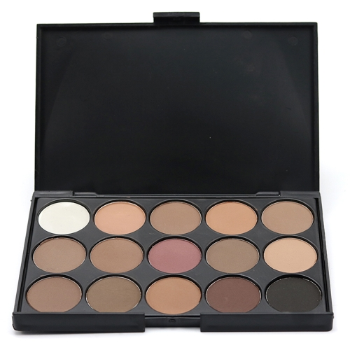 Brand New 15 Color Matte Pigment Glitter Eyeshadow Palette Maquiagem Cosmética Set Nude Eye Shadow