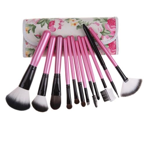 12 Stück professionelle Make-up Pinsel Kosmetik Tool Set Kits
