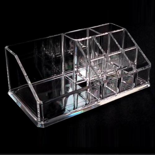 Organizador de maquiagem Cosmetic Lipstick Holder Case Make Up Caixa de armazenamento transparente