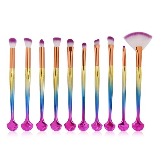 10 Stücke Make-Up Pinsel Tool kits Cosmtics Lidschatten Power Liner Concealer Blending Lip Gesichtsbürste