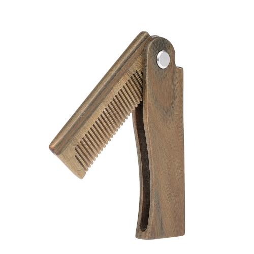 男性のひげ髪の櫛ポケットVerawoodの口ひげのくしの男性の顔のマッサージブラシ静電気ヘアスタイリングツール