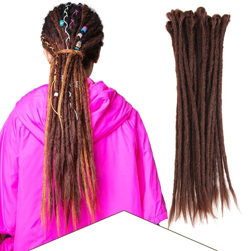 1 Pack 10 PCS Handmade Dreadlocks Extensions Fashion Reggae Crochet Hip-Hop Synthetic Dreads Crochet Braiding Hair 1#