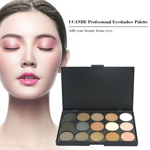 UCANBE Professional 15 Earth Colors Matte Eyeshadow Palette Pigments Makeup Shimmer Eye Shadow Powder Contour Cosmetic Set