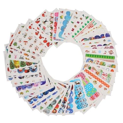 48pcs Nail Art Sticker Tipps Nagelpflege