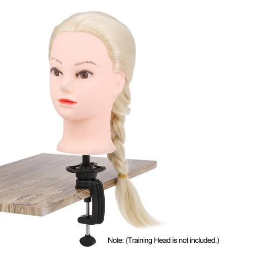 マネキントレーニングヘッドスタンドウィッグホルダースタンドデスクテーブルクランププラスチックメタルヘアアクセサリーツール