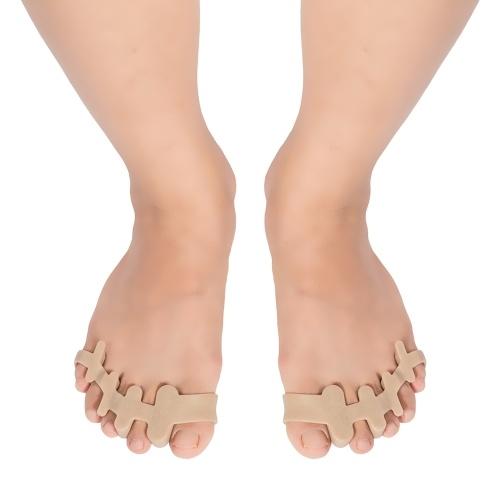 Силиконовые разделители для пальцев ног Выпрямитель Корректор для пальцев ног