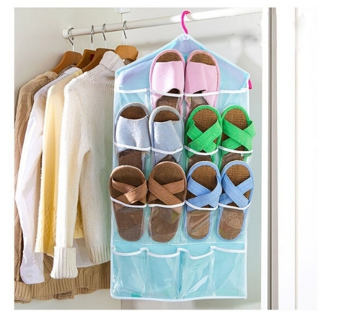 Multifunction 16 Pockets Socks Shoe Toy Underwear Sorting Storage Bag Door Wall Hanging Closet Organizer