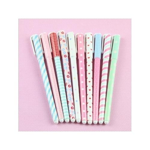Bolas de gel de caneta de moda nova moda Kawaii Pen Boligrafos Canetas Escolar Cute Presentes de papelaria coreano 1 tinta colorida 6pcs