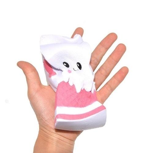 かわいいジャンボSquishyミルクカートンボックス卸売業者ゆっくりと上昇する携帯電話のストラップは、香ばしく