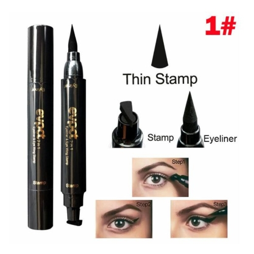 1 Pcs Charmoso olho de gato Eyey Eyeliner Sexy Eye Cosmetic Seal Stamp Wing Double Head Waterproof Eyeliner Pen Tool