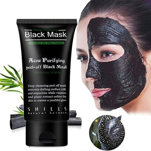 Removedor de cabeça preta, máscara de cabeça preta Descascar aspirador de limpeza de sucção Máscara preta Deep Clean Blackhead / Farewell Morcego de nariz de morango / Blackhead Killer Mascaras faciais Black US in Stock Máscara de nariz 5pcs