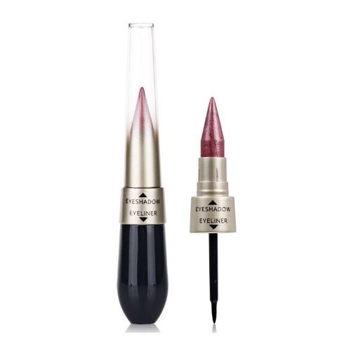 Двусторонняя водонепроницаемая жидкость EyeShadow Eyeliner Combination Легко носить макияж 2