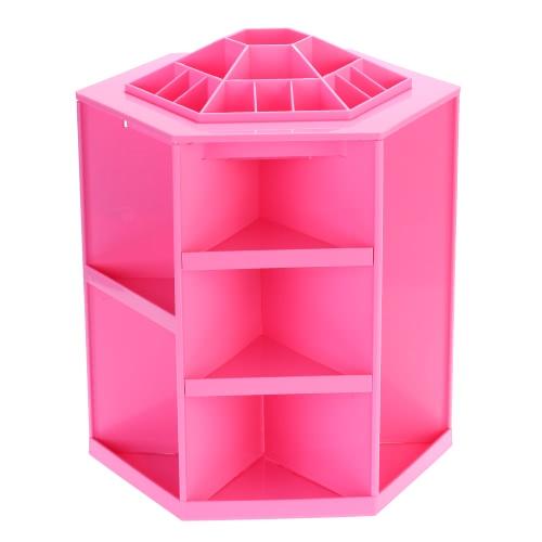 Cosmetic Organizer Makeup Storage Box Sundries Display Box 360 Degree Rotation Large Capacity up to 200 Items DIY