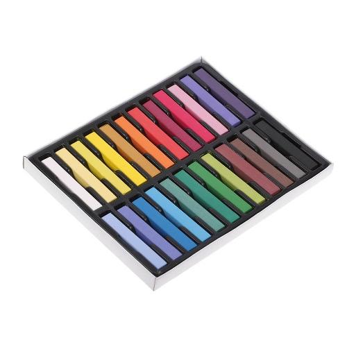 12 Farbe Haarfarbe Pastell Temporary Haarfärbung Chalk Kit DIY Anstrich Chalk Set Multifunktionsplatz Kreiden
