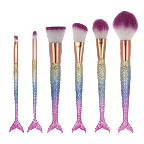 6pcs Make-up Pinsel Set Kosmetik Lidschatten Pinsel Nylon Pulver Foundation Pinsel Kit Blush Pinsel Colorized