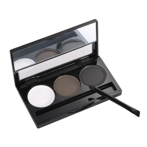 Focallure бровей порошок 3 цвета брови палитра женщина бровей макияж профессиональный косметический инструмент с кистью и зеркалом 1 #