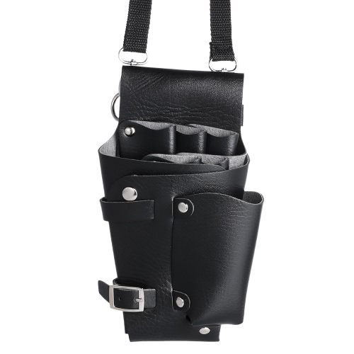 Barber Holster PU cuero bolsa titular Rivet pelo Scissor bolsos clips cintura cinturón de hombro