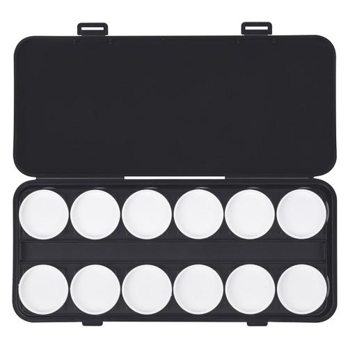 24 Círculos Nail Makeup Palette Box 2 Tiers Destaque Cosmetic Eyeshadow Pigment Foundation Powder Mixing Palette Box