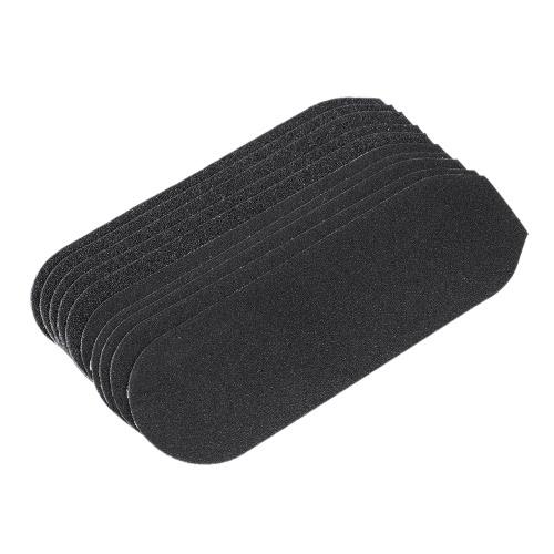 10pcs Sandpapers Reposição grossa de sandpapers finos para aço inoxidável Double Sided Foot Rasp File Pele dura Removedor de chamas Ferramenta Cuidados com os pés