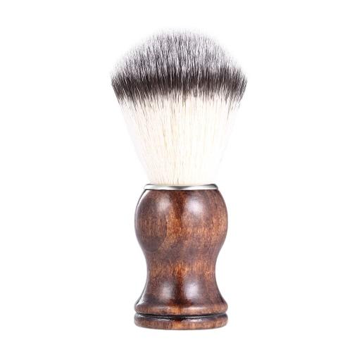 Beard Shaving Brush Shaving Dusting Tool Homem Punho de madeira Nylon Hair Shaving Razor Ferramenta de limpeza Facial Beard Cleaning Shave Tool