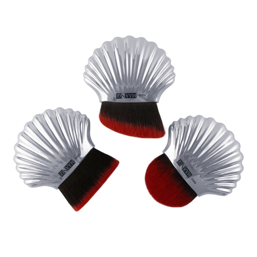 Hot Fashion New Shell Design Cosmetic Soft Brush Várias cores