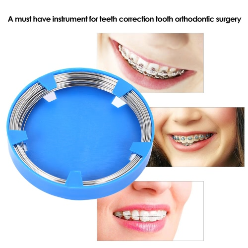 Professional Dental Stainless Steel Wire Dental Tool for Teeth Correction Tooth Orthodontic Surgical Instruments 1.0mm