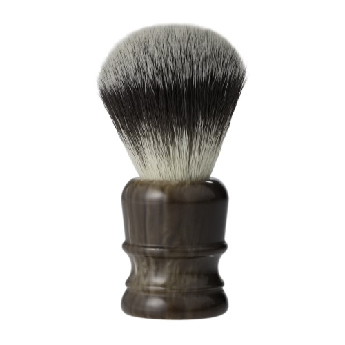 Nylon Pelo Barba Cepillo de afeitar Hombres Afeitar herramienta de limpieza de afeitar Cara Barba Bigote de limpieza Aparato de la manija de la resina