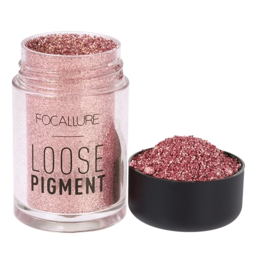 FOCALLURE 1Pc Eyeshadow Glitter Powder Eye Shadow Shimmer Loose Pigment Powder Eye Lip Cosmetic 12 Optional Colors