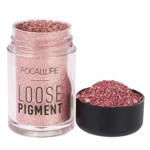 FOCALLURE 1Pc Eyeshadow Glitter Powder Eye Shadow Shimmer Loose Pigment Powder Eye Lip Cosmetic 12 Optional Colors