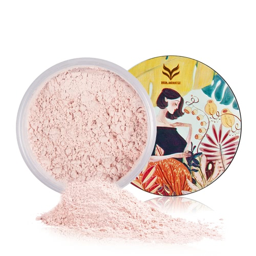 Huamianli Loose Powder Langlebiges Finishing Powder Öl-Kontrolle Gesicht Pulver mit Puff Smooth Silk Pulver