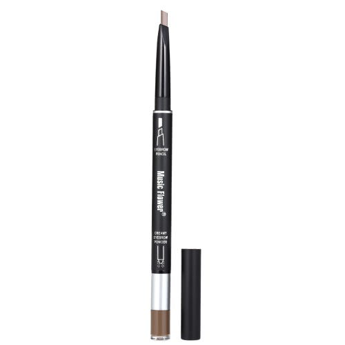 2 in 1 Double-End Augenbrauen Bleistift & Augenbrauen Pulver Wasserdicht Langlebige Augenbrauen Enhancer Pen