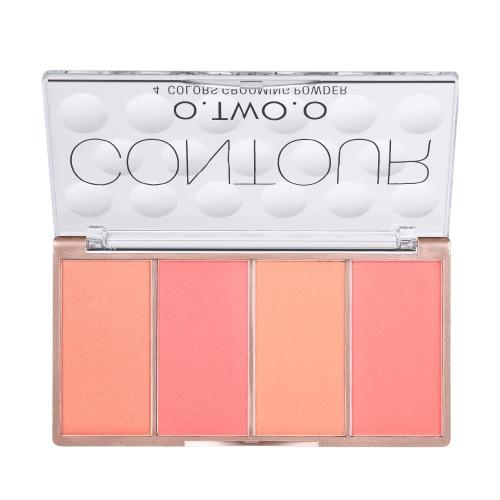 O.TWO.O 4 Farben Contouring Concealer Creme-Palette-Kit Gesicht Basis Foundation Primer Make-up Creme-Palette Set