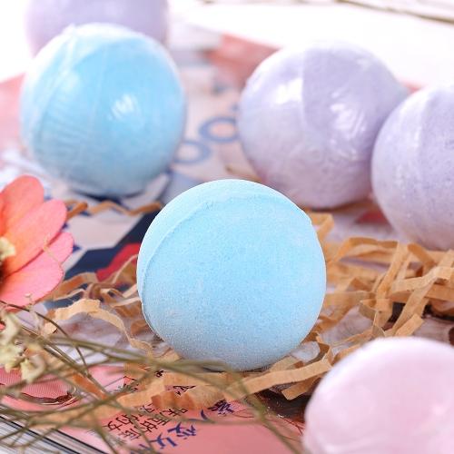 8pcs Organic Bath Bombs Fizzer Salts Ball Essential Oil Handmade SPA Stress Relief Exfoliating Ocean Lavender Rose Flavor