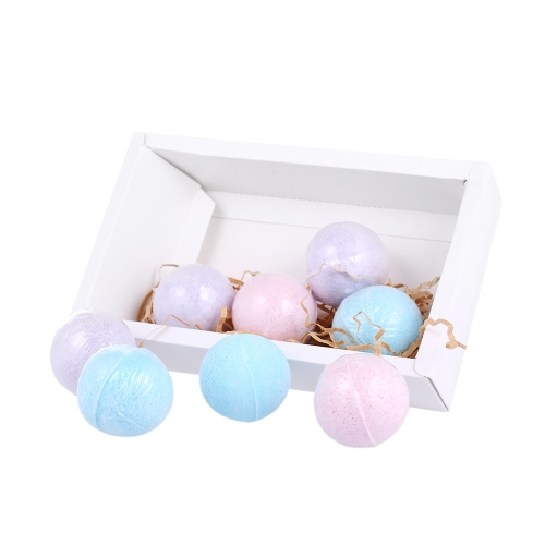 8pcs Organic Bath Bombs Fizzer Salts Ball Óleo Essencial Handmade SPA Stress Relief Exfoliante Ocean Lavender Rose Flavour
