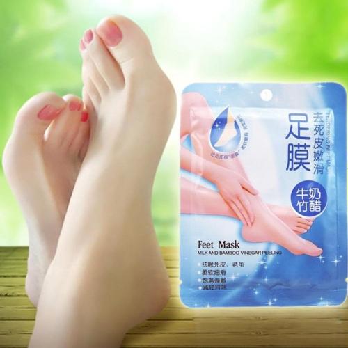 7 Pairs Comfort Exfoliating Peel Foot Masks 14Pcs Baby Soft Feet Remove Scrub Callus Hard Dead Skin Bamboo Vinegar Feet Care For Pedicure Sosu Socks