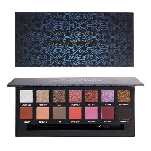 HANDAIYAN 14 Color Eyes Shadow Makeup для женщин Pigment Shimmer Matte Smoky Pop Eyeshadow Palette Powder Glitter With Brush Renaissance Eye Cosmetic Multi-Color Collection Тропический тропический лес