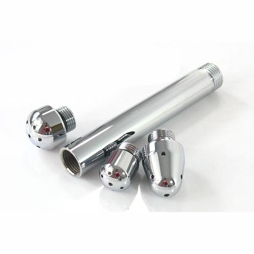 سهل باستخدام سهل تركيب سبائك الألومنيوم حقنة شرجية تنظيف المياه أداة تنظيف مجهزة مع 3 فوهات مثلي الجنس الشرجي ألعاب مثيرة