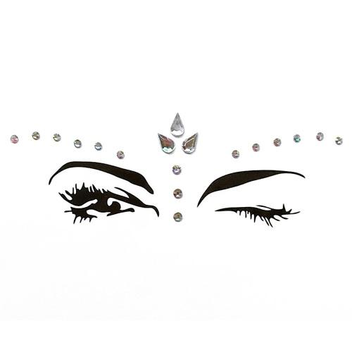 24ae8a370 DIY Adhesive Face Gems Rhinestone Temporary Tattoo Jewels Festival Party  Body Glitter Stickers Flash Temporary Tattoos