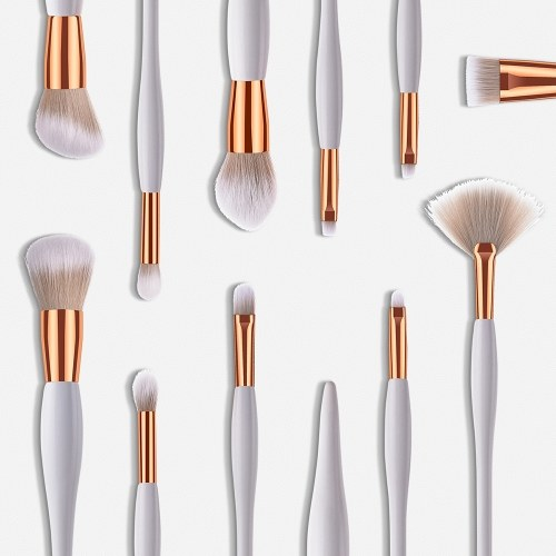 GUJHUI 10/11 Stücke Make-Up Pinsel Set Nylon Haar Augenbraue Lidschatten Kosmetik Pinsel Professionelle Powder Foundation Pinsel Make-Up-Tools