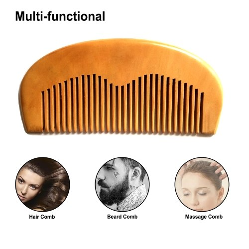 1PC Wooden Hair Comb Portable Man's Beard Comb Anti-static Hair Beard Comb Wood Massage Comb W6922