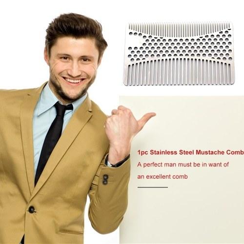 Stainless Steel Mustache Comb Beard Comb For Men