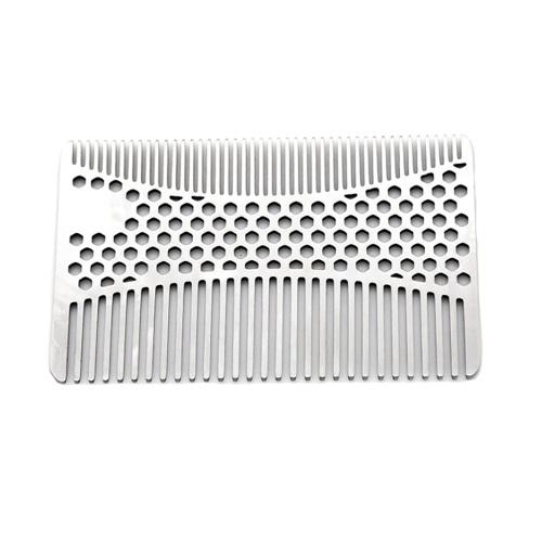 Edelstahl-Schnurrbart-Kamm-Bart-Kamm für Männer
