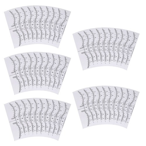 Eyebrow Ruler Sticker Disposable Adhesive