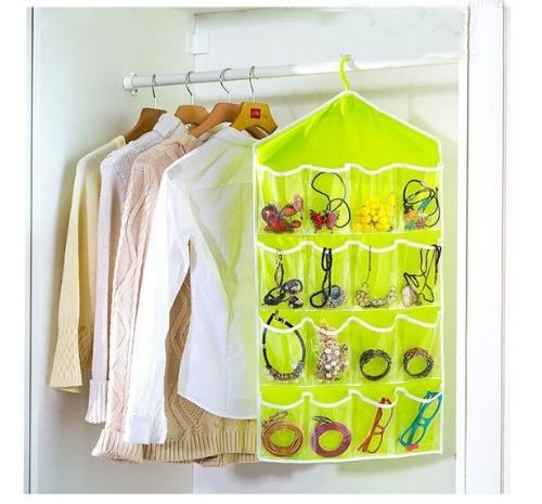 Multifunction 16 Pockets Socks Shoe Toy Underwear Sorting Storage Bag Door Wall Hanging Closet Organizer