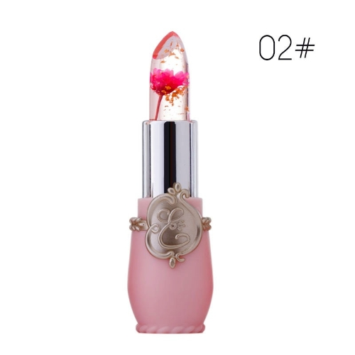 Schönheit helle Blume Crystal Jelly Lippenstift Magie Temperatur ändern Farbe Lippenbalsam Make-up 1