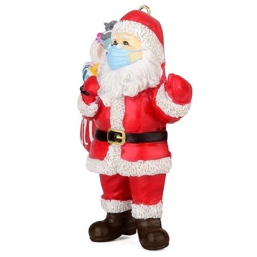 Decoración navideña de estatuilla de Papá Noel