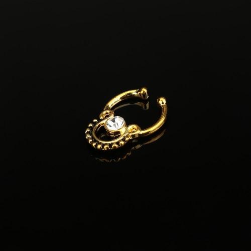Болтовое Поддельное Кольцо для Носа Не Пробое Украшение